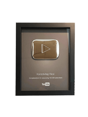 Silver Play Button – Konzolvilág Ricsi