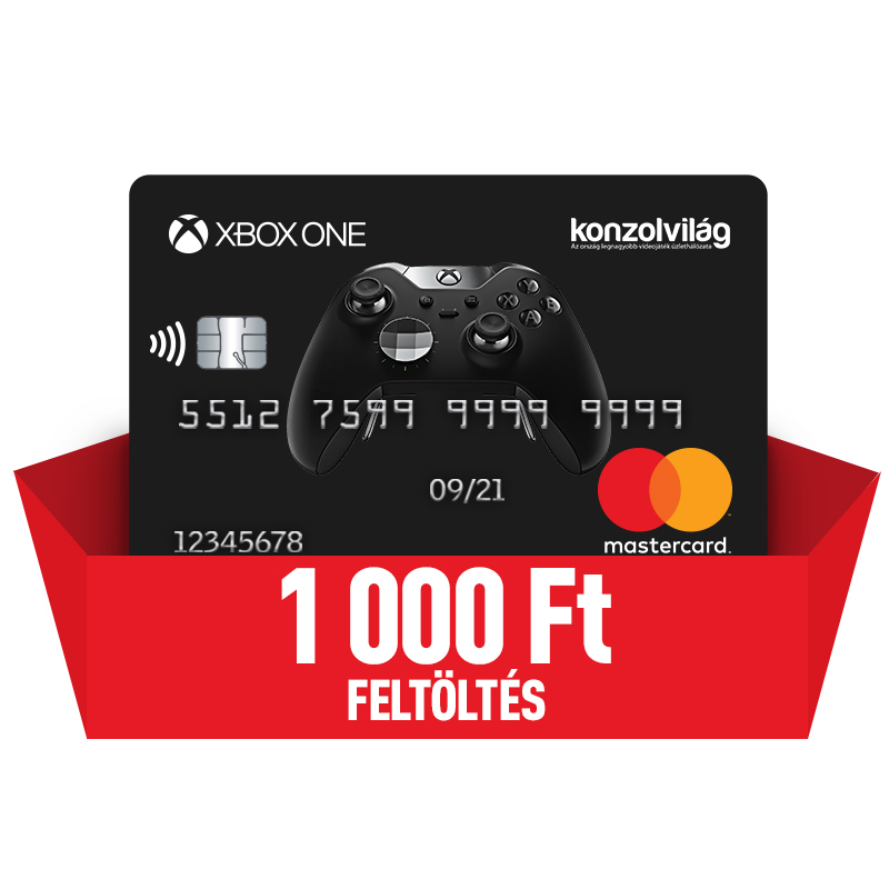 Bankkártya 1000 Ft-os feltöltéssel