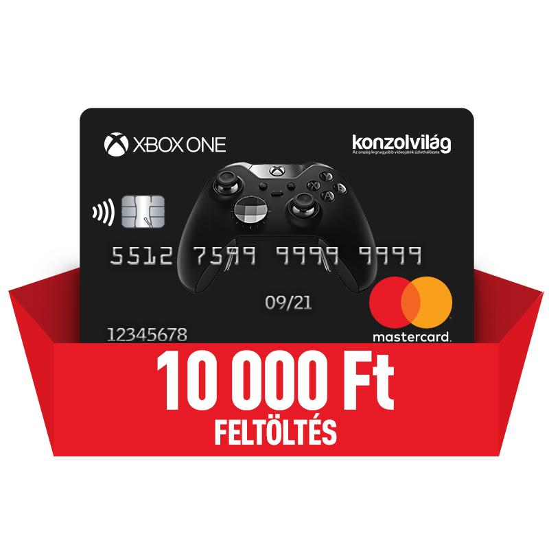 Bankkártya 10000 Ft-os feltöltéssel