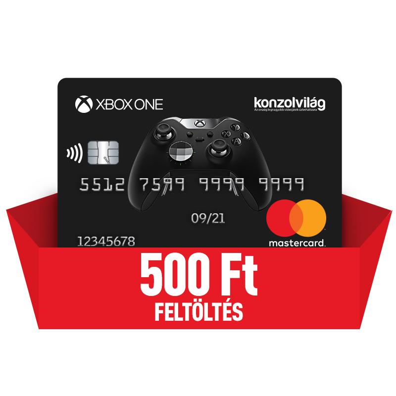 Bankkártya 500 Ft-os feltöltéssel